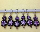 Purple Flower Stitch Markers
