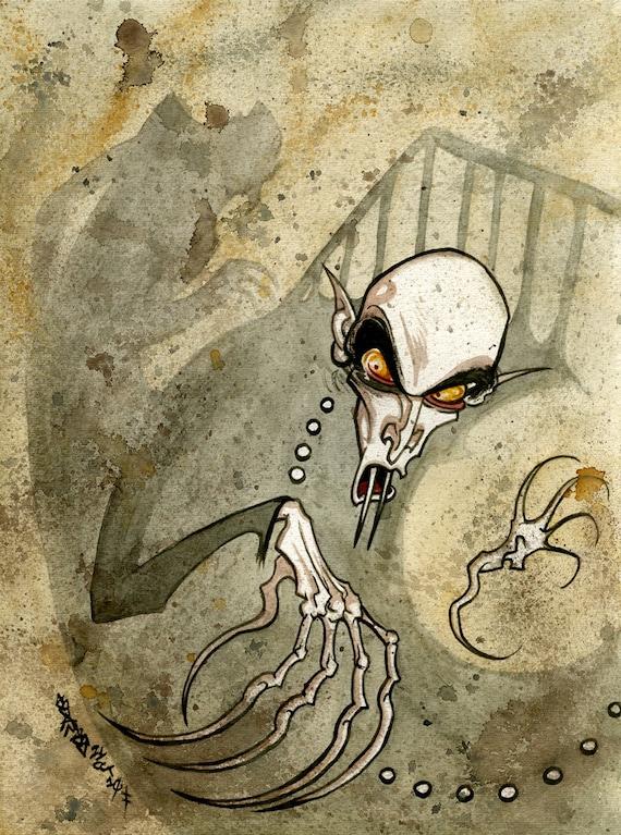 Nosferatu, Watercolor
