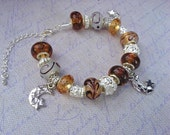 Pandora Style Sun & Moon Bracelet
