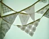 Custom Made Wedding Garland 2 Decoration With Handcrocheted Vintage Doilies and Laces