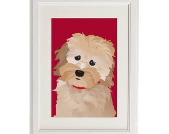"""Shop """"cockapoo"""" in Drawing & Illustration"""