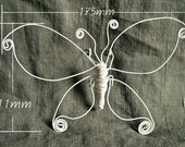Iron wire White Butterfly handmade natural pure Butterfly