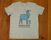 Origami Llama Munching Saplings Children's Short Sleeve T-shirt