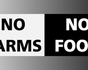 No Farms No Food Bumper Sticker Decal