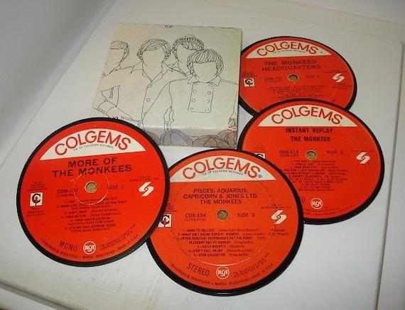 The MONKEES coaster set vinyl record coasters