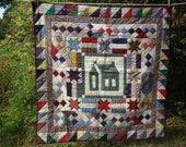 Beautifully hand-made, hand-sewn, hand-quilted wall hanging.