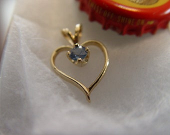 Tanzanite Gold Heart Pendant.