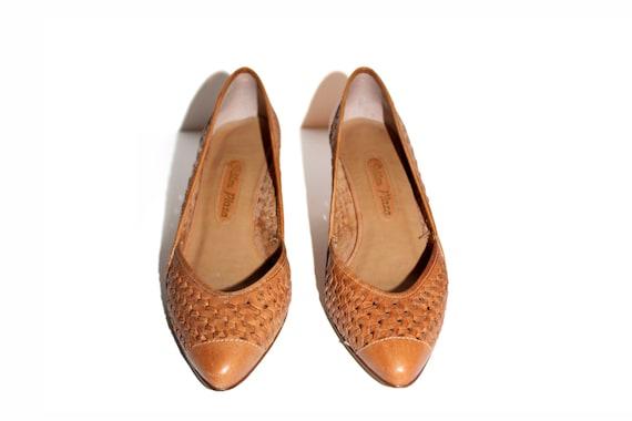 Vintage Heels Leather Heels Nude Heels Womens Shoes Tan Heels