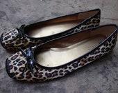 CAROL LITTLE leopard print slip on shoes size 8