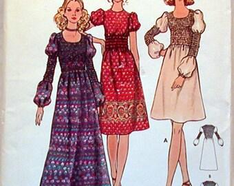 Vintage Butterick Pattern 6355 Sz. 5JP NOS Junior Petite and Misses Dress