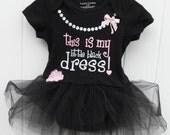 My little black dress bodysuit with black tulle tutu