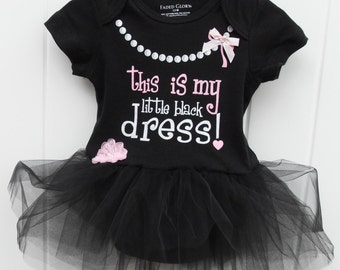 My little black dress bodysuit with tulle tutu