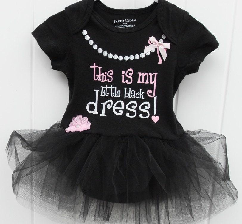 My Little Black Dress Onesie Bodysuit By Joysheartcreations
