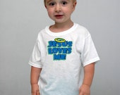 Children toddler 'Jesus loves me' T-shirt. White funny tshirt  for toddlers. Any size available. Cheap