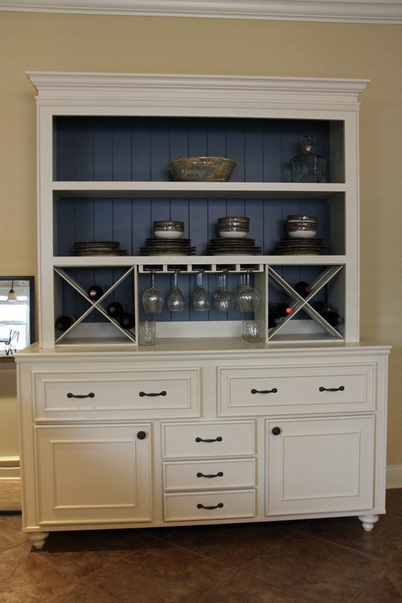 Custom built buffet w hutch wine rack china cabinet for Dining room hutch dimensions