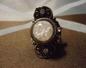 Snowy Circle Bronze Tibetan Charm Alloy  Vintage Fashion Ring