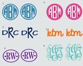 2inch Vinyl Monogram Set of 2 Decal Stickers