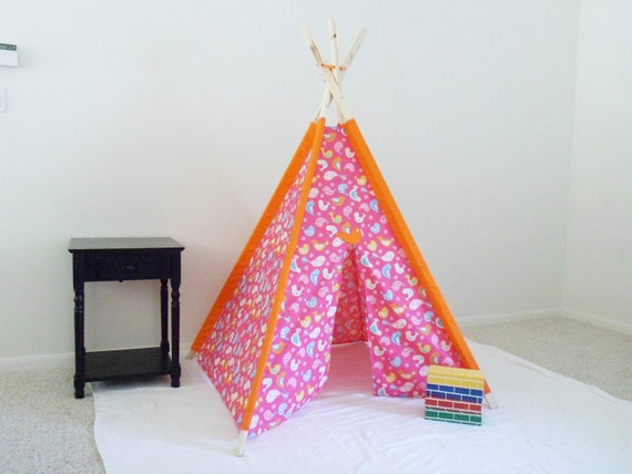 Sweet Birds Kids Tent, Children's Tent, Teepee, Play Tent, Tipi, Wigwam or Kids Fort