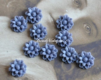 8 PCS Resin Cabochon 14mm Mini Crysanthemum Flower Cabochons Beautiful Colors Supplies For Handmade Vintage Jewelry Embellishment---RF9-10
