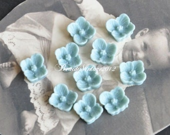 20 PCS Resin Cabochon 8mm Mini Flower Cabochons Beautiful Colors Supplies For Handmade Vintage Jewelry Embellishment---RF10-3