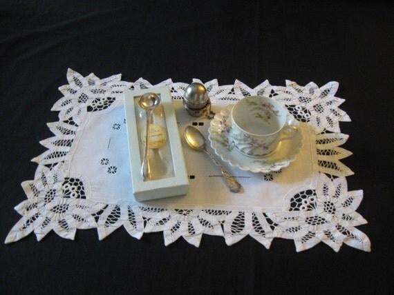 Haviland Limoges Orsay Teacup Sterling Spoon Tea Ball Scoop Ready For TEA