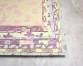 """Purple Patterned Card, Cardstock, 6"""" x 6"""", 45 sheets"""