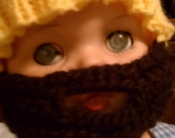 Knit hat with beard