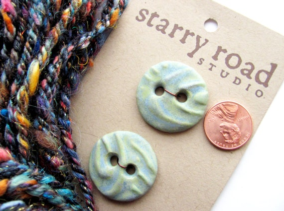 Handmade Ceramic Buttons by Starry Road Studio