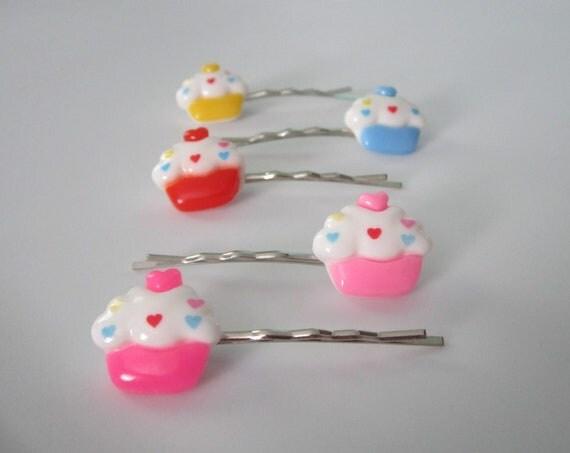 Kawaii Cupcake Bobby Pins