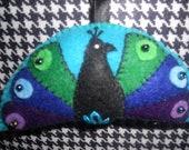 Plush Peacock Ornament