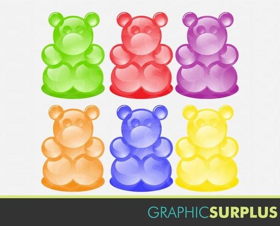 Clip Art Gummy Bear Clipart items similar to clip art gummi bears candy gummy bear clipart commercial use ca170 on etsy