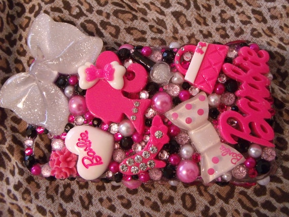 One Day Sale-Hot Pink Barbie  Iphone 4s case custom made by me Princess Tali-One Day Sale