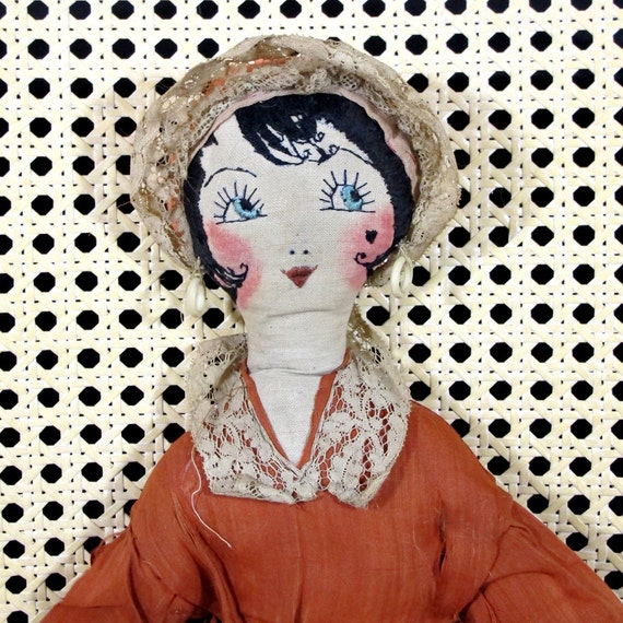 Items Similar To Antique Handmade Doll, Very Old Doll
