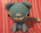 Kawaii Crochet Blue Kitty Cat Amigurumi Plushie