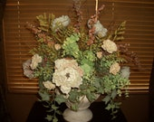 Victorian Country Garden with Cabbage Roses