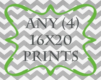 Any (4) 16x20 Prints - ANY prints from Rizzle And Rugee