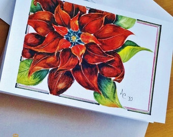 Seasonal Cards, Greeting/Note/Gift Cards printed from original watercolor painting