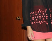 Cut Out Blouse - Sheer
