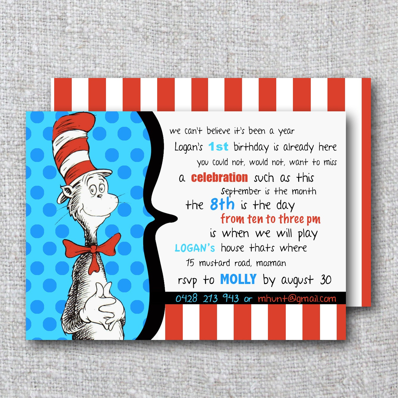 Cat In The Hat Birthday Invitations can inspire you to create best invitation template