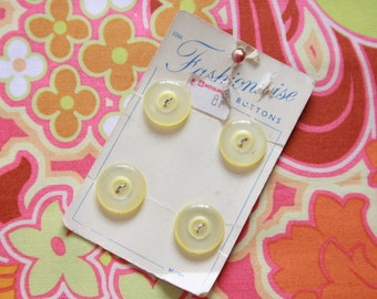 SPECIAL OFFER Lemon Yellow buttons on card - Buy 2 get 1 free