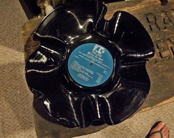 Recycled Vinyl Record Bowl