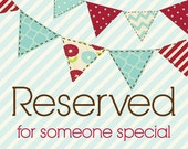 RESERVED LISTING for Alicia Conner