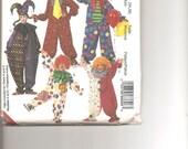 McCalls 8869 an Adults Clown   Halloween Costumes Pattern