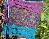 Oh hold for Veronica Gypsy colorful sweater skirt, up-cycled Boho purple/blue fun skirt