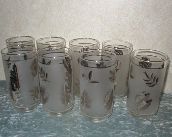 1960's Set of 8 Dinner Glasses