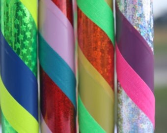 Kids Hula Hoop -Custom Three Color Spiral or ZigZag Child/Youth Hoola Hoop