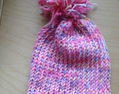 Pink and Multi Color  Winter Hat