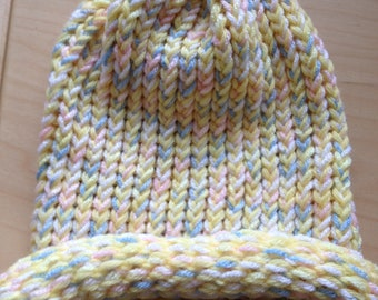 White and Pastel Winter Hat