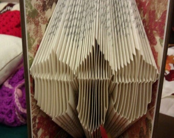 "Folded Book Art ""3 Acorns"" - Made to Order"