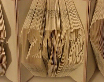 "Folded Book Art ""Date"" - Made to Order"